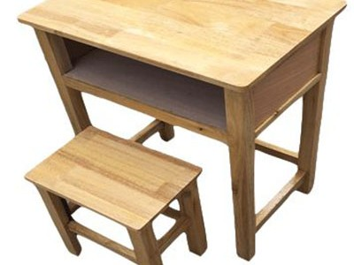 实木单人课桌椅