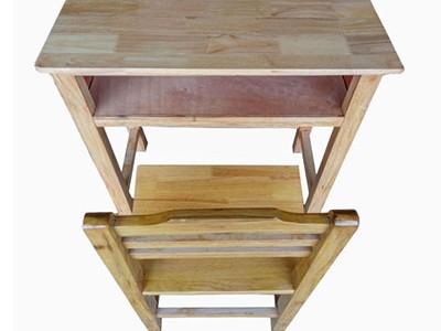 实木靠背课桌椅