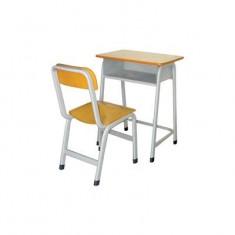靠背单人圆管课桌椅