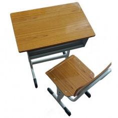 靠背单人方管课桌椅